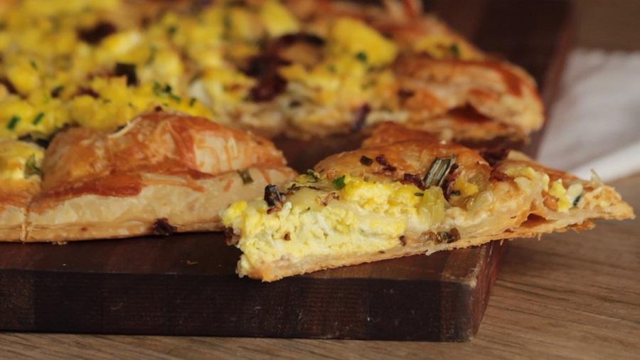 Pizza Express de Panceta y Huevo