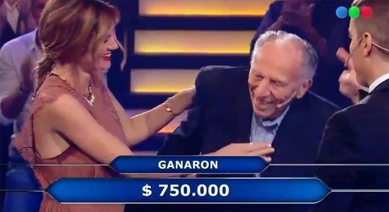 Paula Chaves y su abuelo ganaron $750 mil en «Quién quiere ser millonario»