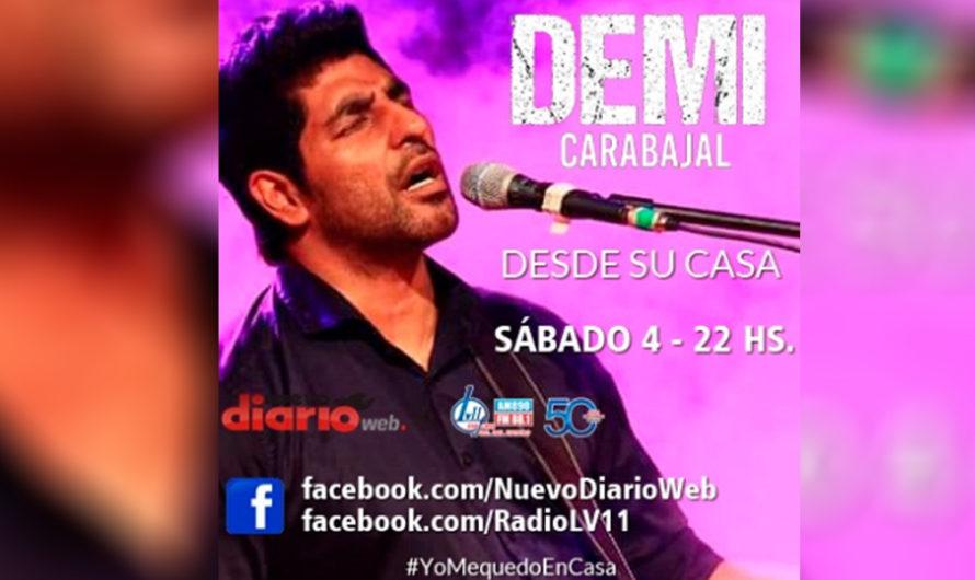 Desde su casa, Demi Carabajal brindará un show para todos los santiagueños