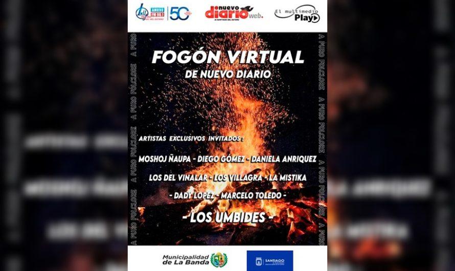 [Reviví el show] Músicos santiagueños le pusieron calor a la noche con un «Fogón Virtual»