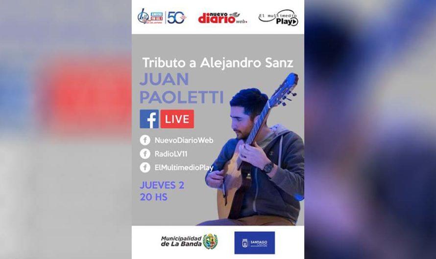 Juan Paoletti y un imperdible tributo a Alejandro Sanz