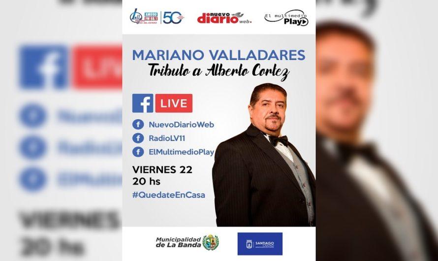 Mariano Valladares realizará un tributo a Alberto Cortéz y podrás verlo a través de El Multimedio Play