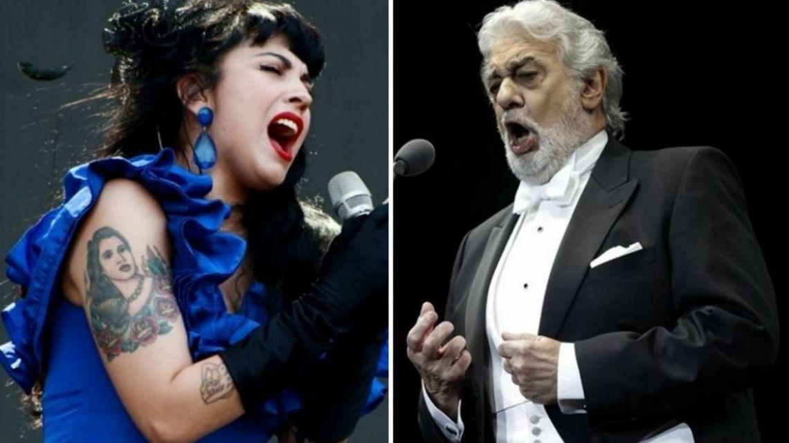 Mon Laferte no volverá a compartir escenario con Plácido Domingo: los motivos