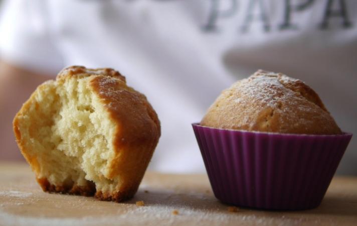 Muffins de coco sin azúcar