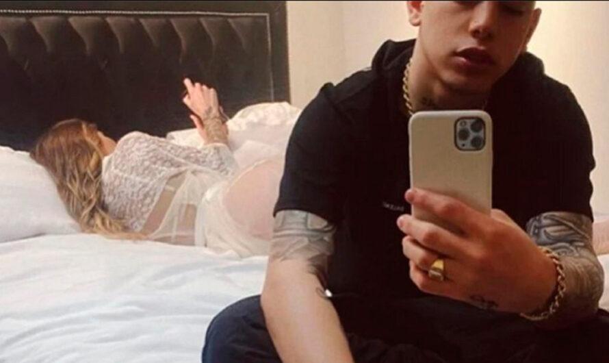 Trapero publicó foto que muestra a una mujer en la cama: ¿Es Romina Malaspina?