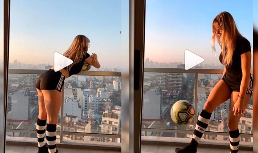 [VIDEO] Nati Jota se puso «re diosa» para hacer jueguitos con la pelota pero… Final inesperado