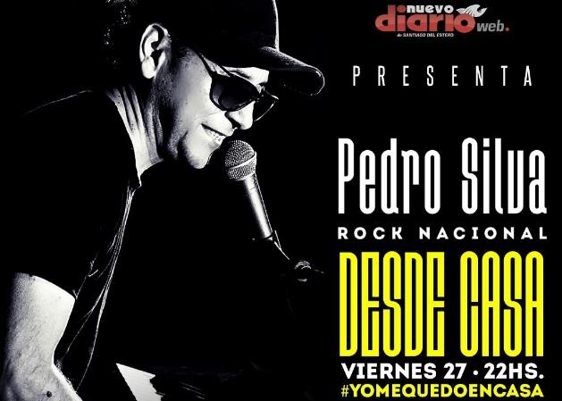 Pedro Silva, «desde casa», en un show online con todo el Rock Nacional