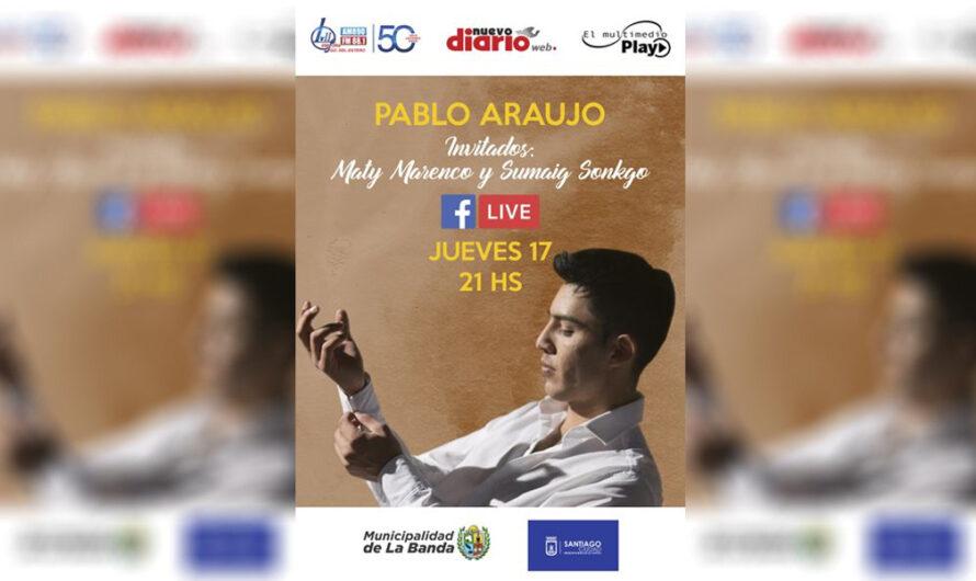 Pablo Araujo brindará un show inolvidable a través de las plataformas del Multimedio