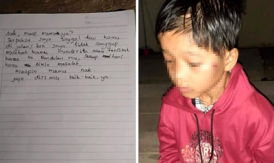 Una mujer abandonó a su hijo con una carta: «Me cansé de tus travesuras»