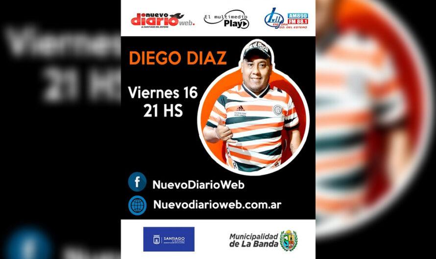 El Multimedio te trae el show exclusivo de Diego Díaz este viernes 16 a las 21