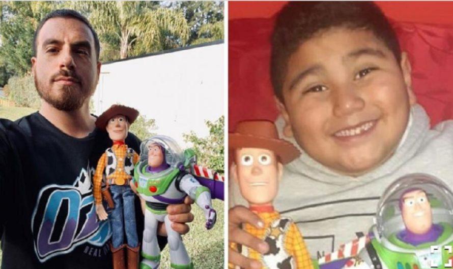 """Fede Bal regaló juguetes a """"Dieguito"""", el nene del video del cumpleaños"""