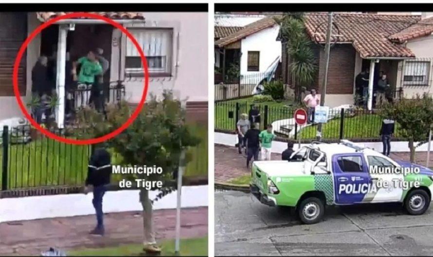 VIDEO: así cayó el presunto femicida de la mujer que fue encontrada colgada de un alambrado