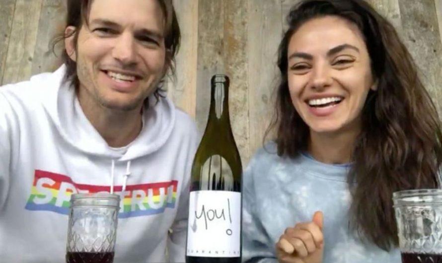 Ashton Kutcher y Mila Kunis lanzan «Quarantine Wine»: la pareja propone una cata por videollamada