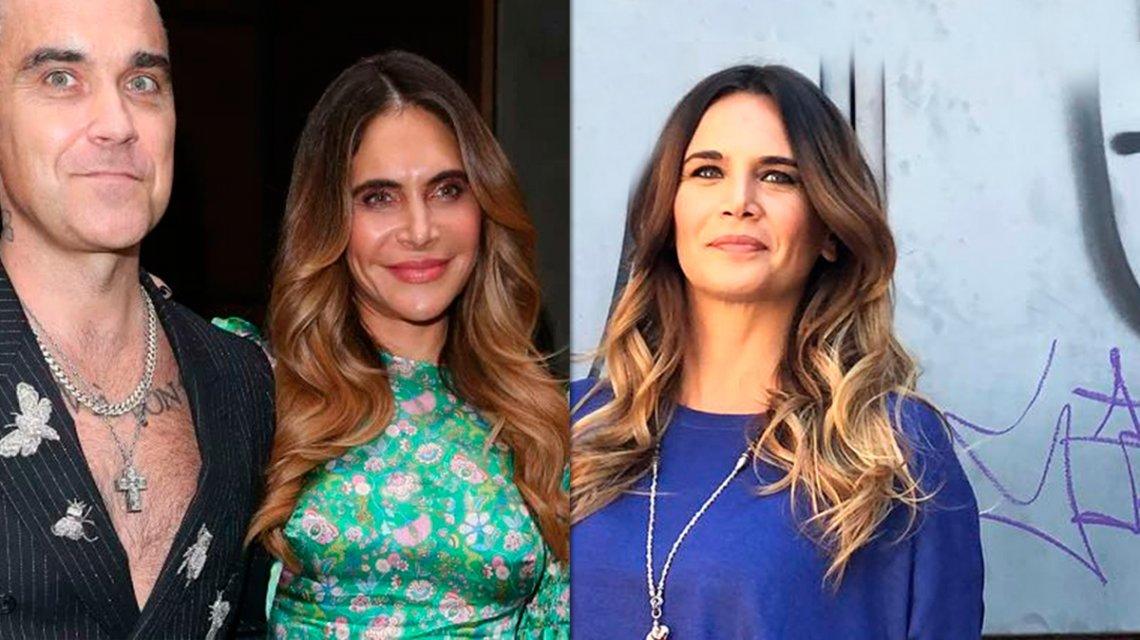 Conocé a la esposa de Robbie Williams: ¿Es la «melliza» de Amalia Granata?