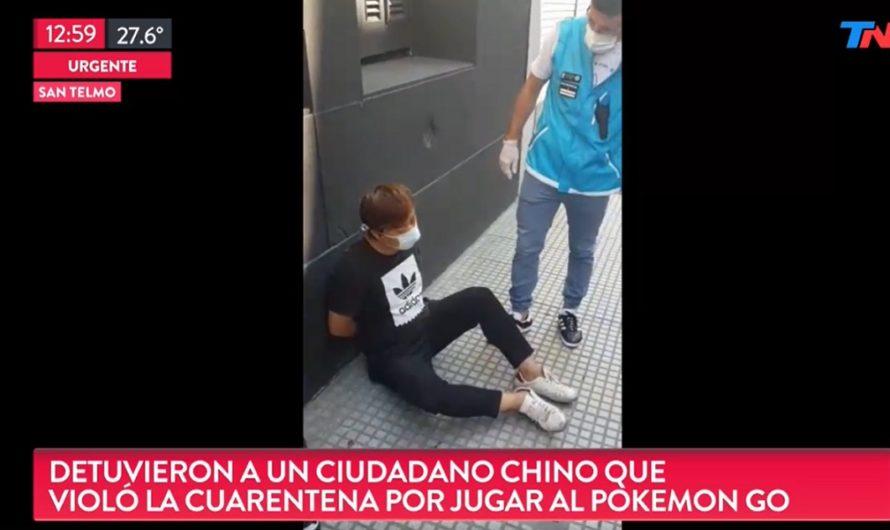 Tremendo: detuvieron a un chino que estaba jugando tranquilamente Pokémon GO por las calles, en plena cuarentena [VIDEO]