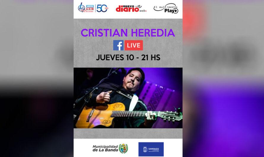 Este jueves 10, Cristian Heredia en vivo a través del Facebook de NDW, EMP y LV11