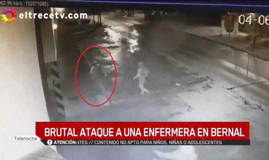 Horror en video: atacaron brutalmente a una enfermera para robarle y la desmayaron a golpes