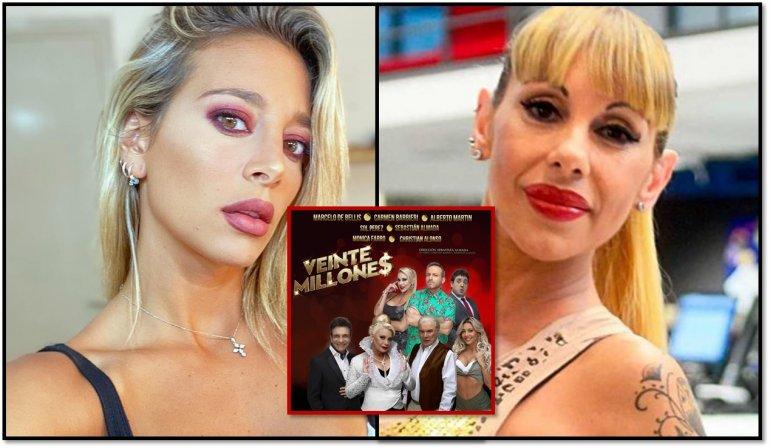 Suspendieron la segunda función de la comedia de Barbieri por otra discusión entre Sol Pérez y Mónica Farro, una de las dos se bajaría de la obra