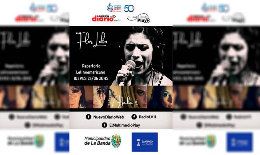 A través de un directo imperdible, Flor Lobo te traerá lo mejor de la música latinoamericana