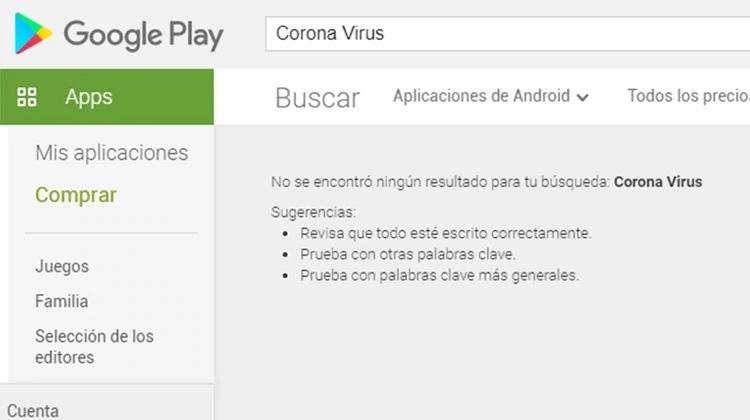 ¡GOOGLE SE PUSO LA GORRA! Suspendieron todas las aplicaciones sobre Coronavirus