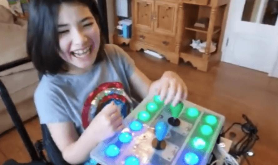 Para que su hija discapacitada pueda jugar a la Nintendo Switch, un padre inventa un mando adaptado