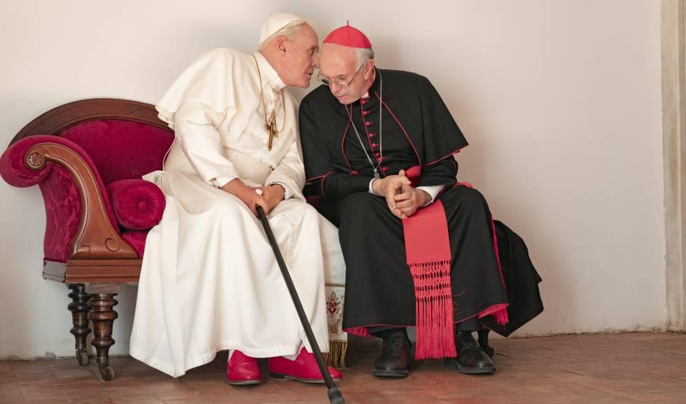 """""""Los dos papas"""" el film con Anthony Hopkins y Jonathan Pryce en el Renzi"""