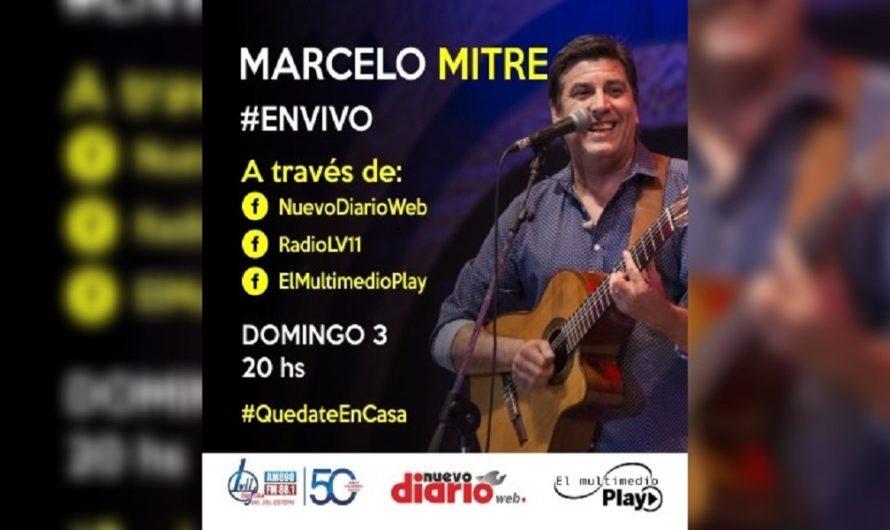 Este domingo disfrutá del show en vivo de Marcelo Mitre a través de NDW y EMP