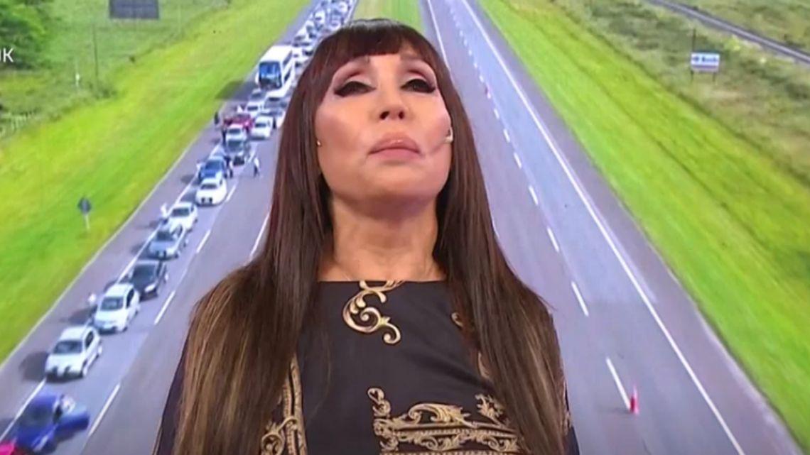 Moria Casán se quebró en vivo al hablar de la tragedia en Ruta 2: «Ver morir niños es desgarrador»