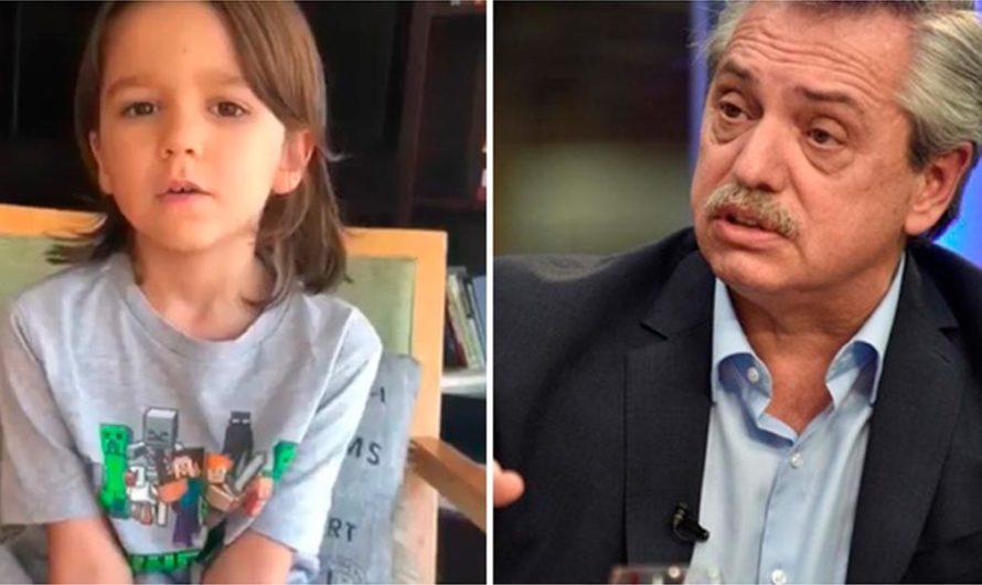 Las dulces preguntas del hijo de Soledad Fandiño y René Pérez a Alberto Fernández
