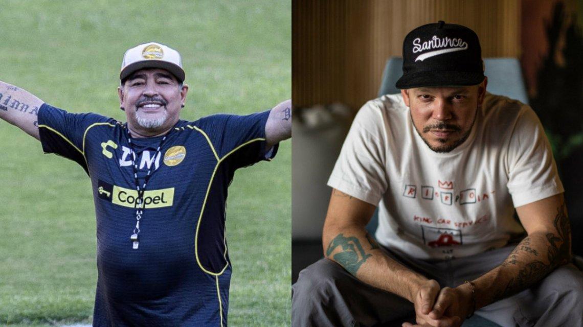 Residente se encontró con Diego Maradona: «Milo ya conoció a D1OS»