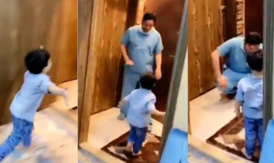 Desgarrador: médico llega a su casa y rompe en llanto al tener que negarle un abrazo a su hijito