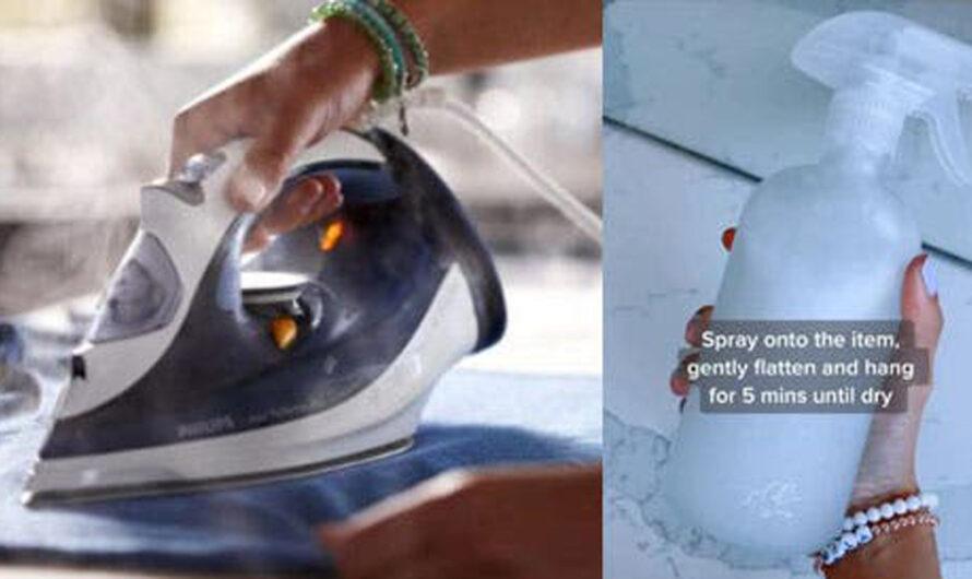 Chau plancha: mezclá tres ingredientes, rociá la ropa y acabá con las arrugas en minutos