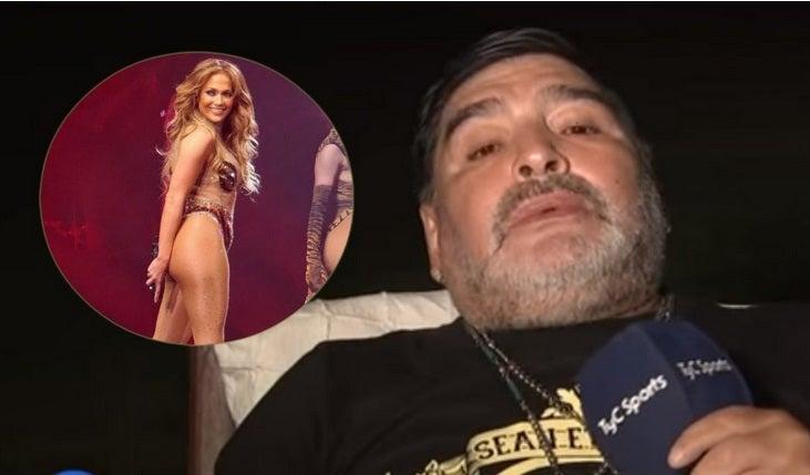 """Maradona, baboso: """"Jennifer López tiene el c… más hermoso que vi"""""""