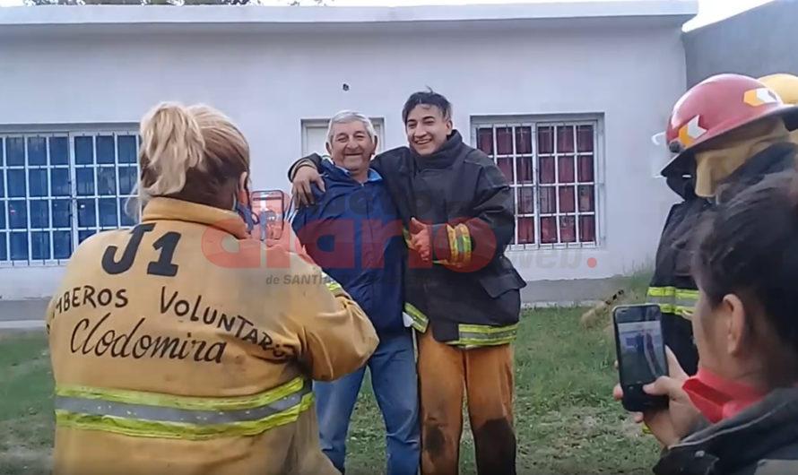 Liberaron a Don Vizcachita y ayudó a sofocar un incendio