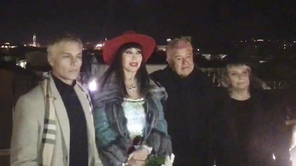 Moria Casán se casó «a la italiana» con Humberto Poidomani (VIDEO)