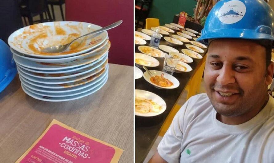 Comió 15 platos de pasta, pidió ocho más y lo echaron del restaurante