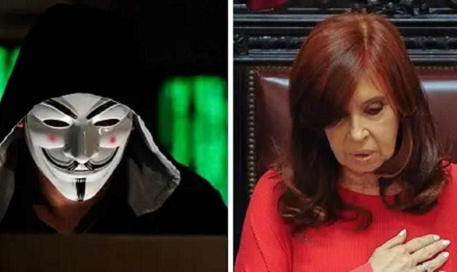 Anonymous le dejó un mensaje a Cristina Kirchner tras hackear la web de Tecnópolis