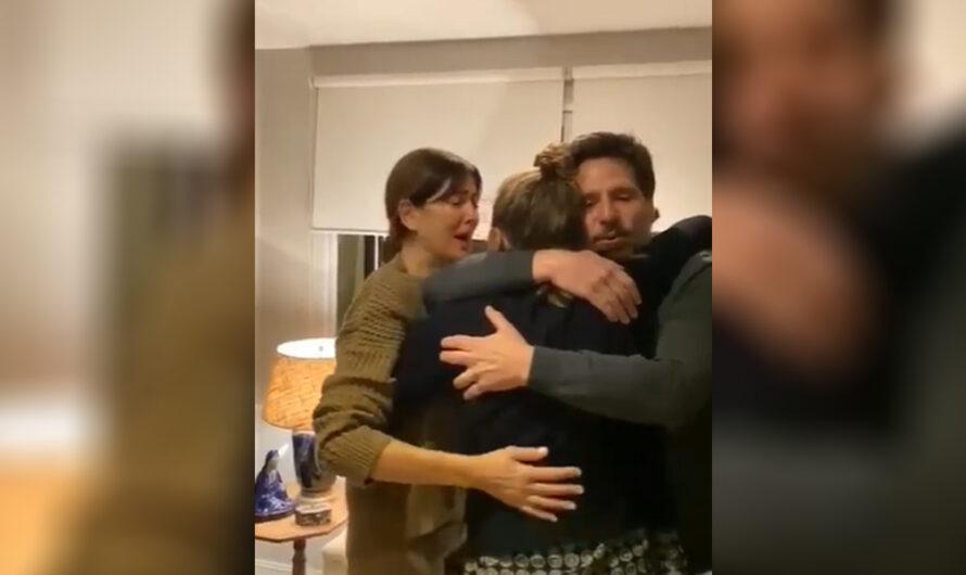 El desconsolado llanto de Andrea Frigerio al reencontrarse con su hija: El video