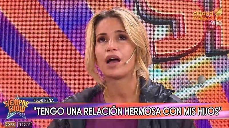 Flor Peña: «No soy una madre presente porque trabajo mucho»