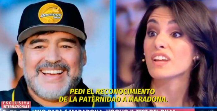 La sorprendente aparición de Magalí, la presunta sexta hija de Maradona