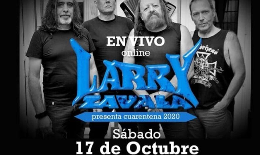 Este sábado no te pierdas el show vía streaming de Larry Zavala