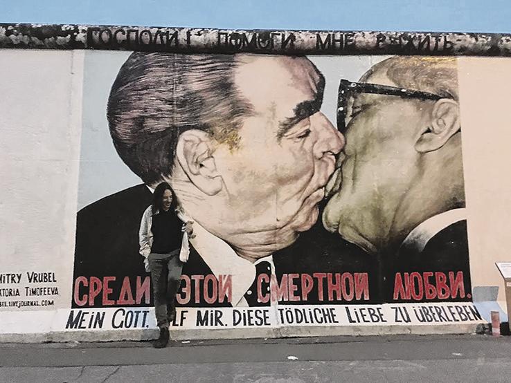 Benjamín Dalale y Patricio Zarazaga estuvieron en el Muro de Berlín