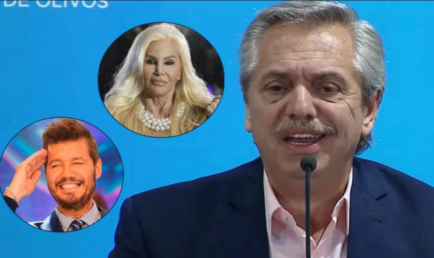 Alberto Fernández cuestionó a Susana Giménez y defendió a Marcelo Tinelli