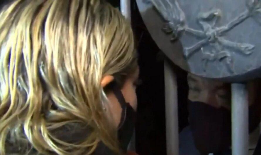 Así echaron a Rocío Oliva del velatorio de Diego Maradona [VIDEO]