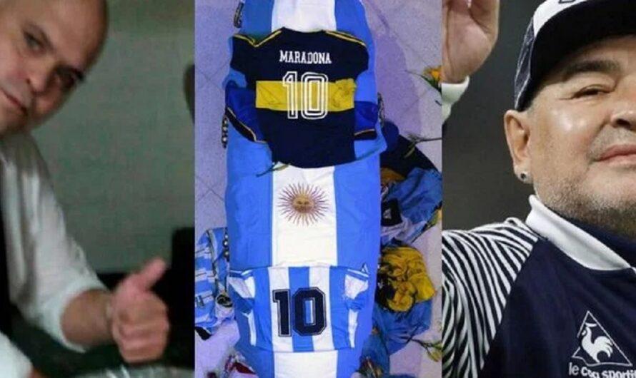 Hay más fotos de Diego Maradona muerto y medios ingleses negocian su compra