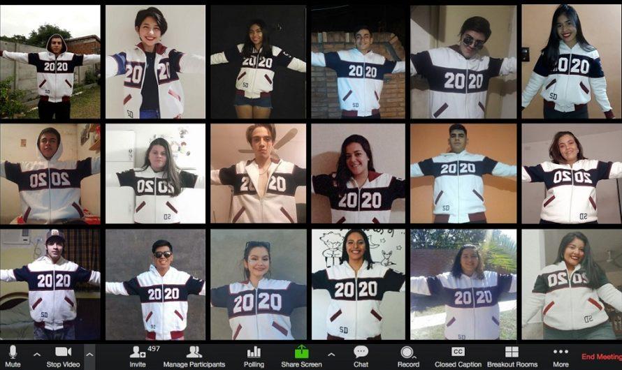 Alumnos santiagueños hicieron su presentación de camperas a través de Zoom