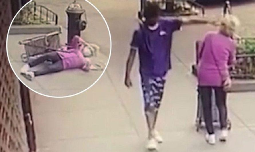Indignante: se cruzó con una anciana de 92 años, le pegó una trompada y la tiró al suelo [VIDEO]