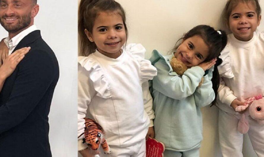 Las hijas de Cinthia Fernández se reencontraron con Martín Baclini y una de ellas rompió en llanto desconsolada