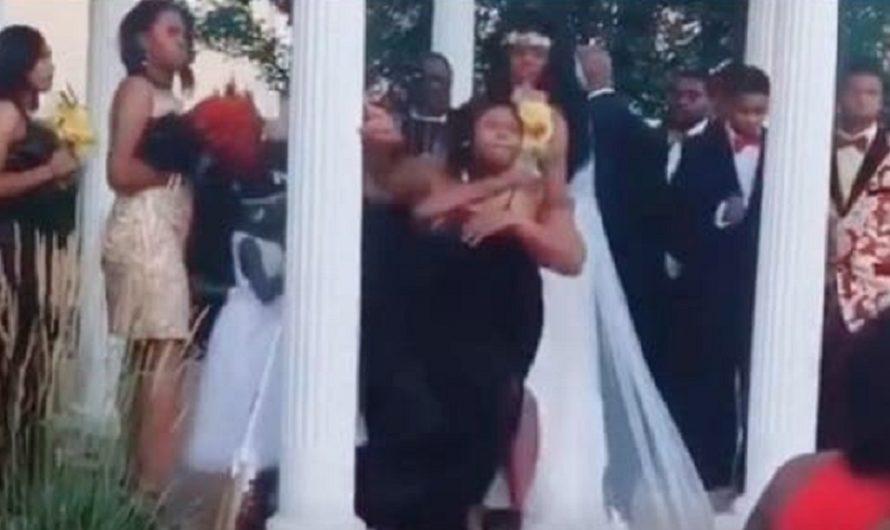 Escándalo: irrumpió en una boda y dijo que estaba embarazada del novio [VIDEO]