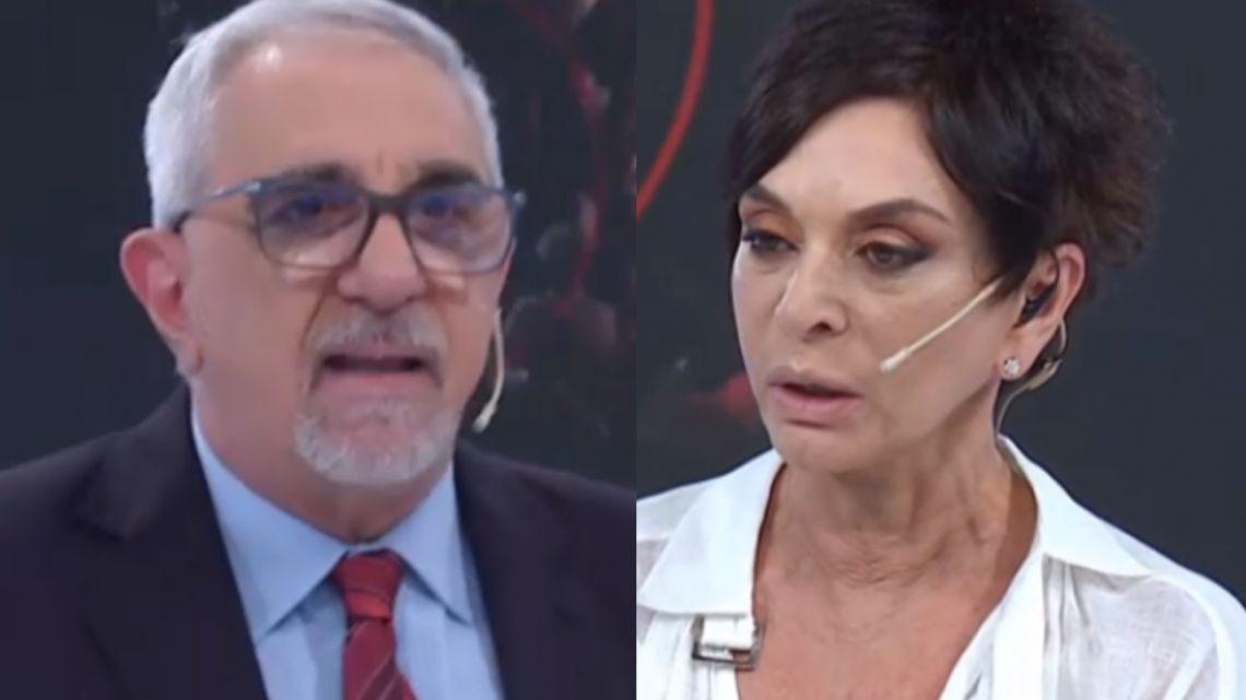 Escándalo a los gritos de Ricardo Canaletti y Mónica Gutiérrez